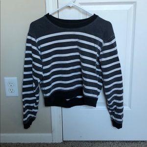 J Crew cropped sweatshirt